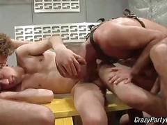 Locker room orgy of hot gay boys