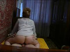 Mature mother seduced her boy while husband at work