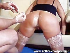 French wife double fisted in her destroyed asshole