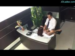 Office lady fucked from behind cum to ass at the reception
