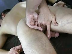 Hot newbie gets big cock jerked