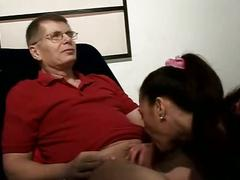 Wife fucks older man
