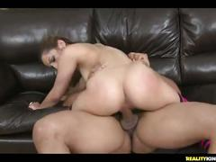 Tarra rides that cock as her plump juicy ass bounces.