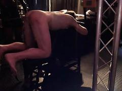German slave caned!