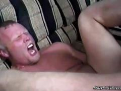 Amateur gay chub fucking and jerking in gay party