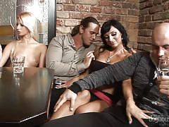 A sexy stripper show @ 5 incredible orgies