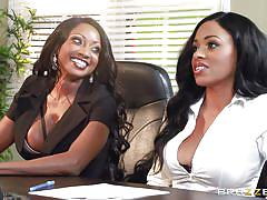 Bitches undress in the office