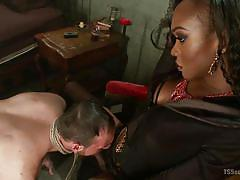 interracial, mistress, domination, blowjob, anal sex, ebony tranny, big black cock, rope bondage, ts seduction, kink, jimmy bullet, kayla biggs