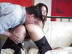 Latina sex bomb gets her ass stuffed @ angelic latin asses