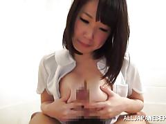 babe, japanese, cumshot, blowjob, brunette, titfuck, cum in mouth, japanese slurp, all japanese pass, yuna aoba