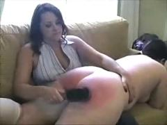 Bbw spanking with hand and brush