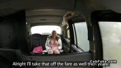 Massive tits blonde fucking in fake taxi