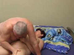 Grandpa and granny on the bed