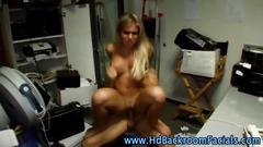 Super hot blonde babe gets to be fucked