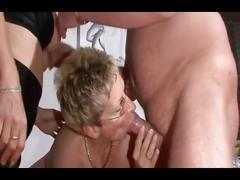 Perfect german mature threesome