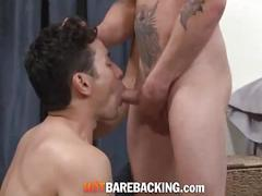 Latino hunks fucking in doggy style