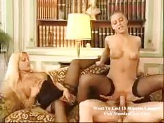 Owesome two blonde in threesome