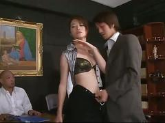 Innocent asian  maki hojo terrorized by group of men