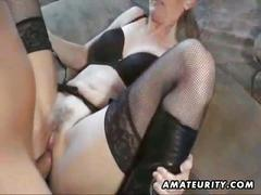 Hot amateur milf in action