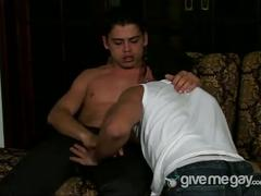 Hot latinos loading each other with cum