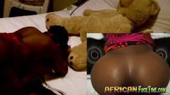 Ebony honey has always wanted to fuck on tape