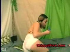 Little russian likes her dildo