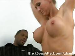 Big black dong fucking a white pussy