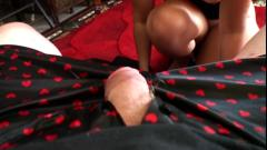 Mom sucking daddy's stiff cock