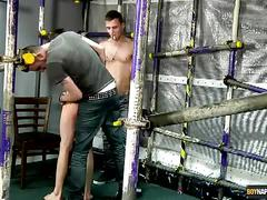 Adam, reece and kamyk gym threesome