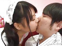 teen, japanese, maid, kissing, cosplay, roleplay, j cos play, all japanese pass, mayu morida
