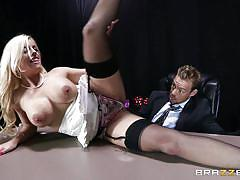 Slutty britney gets dirty in the office