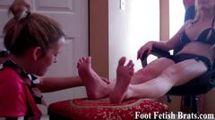Licking feet is what we love to do