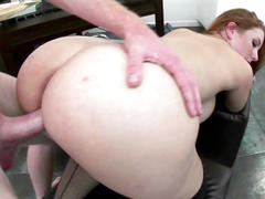 Redhead hottie rebecca lane gets her twat fucked hard
