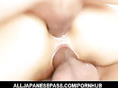 Hatsumi kudo speared in both holes for a raunchy dp