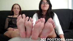 Babes with sexy feet love to tease