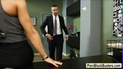 Huge boobs madison ivy banged with horny guy in office