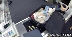 Sexy latina stewardess does a dick for cash pov