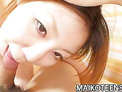 Japanese teen madoka kanbe shows off her perky tits