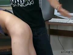 Lovely gay twinks concentrating in lessons and hardcore fucking