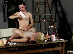 Luca gets waxed and jerked dry