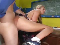 Horny professor levels young school girl