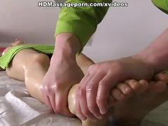 Sultry bimbo sabrina getting naked massage and fuck