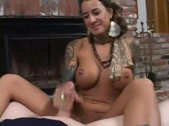 Tattooed milf pov blowjob