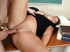 Big tit and ass teacher fucking her student