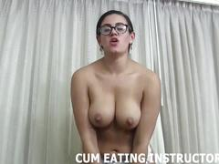 You will start to love eating your own cum cei