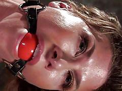 bdsm, domination, vibrator, tied up, suspended, brunette babe, executor, ball gag, nipple clamps, rope bondage, hogtied, kink, the pope, ariel x