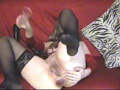 Sexy mature loves anal fist dildo pump rose ass gape 2