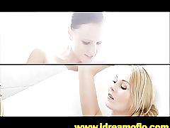 Lesbians wash in black water bath tub