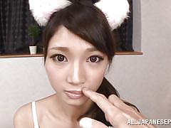 babe, japanese, blowjob, cosplay, censored, pov, finger sucking, j cos play, all japanese pass, rinon miyazaki