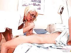 Big cock for the slutty blonde doc